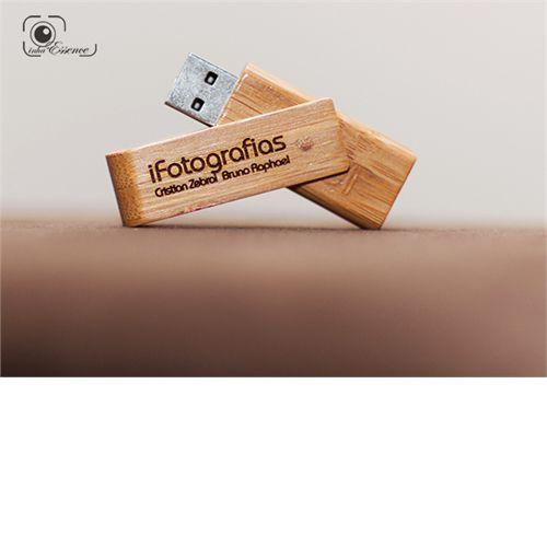 Pendrive de madeira MM326 personalizado - 4 GB, 8 GB a 16 GB