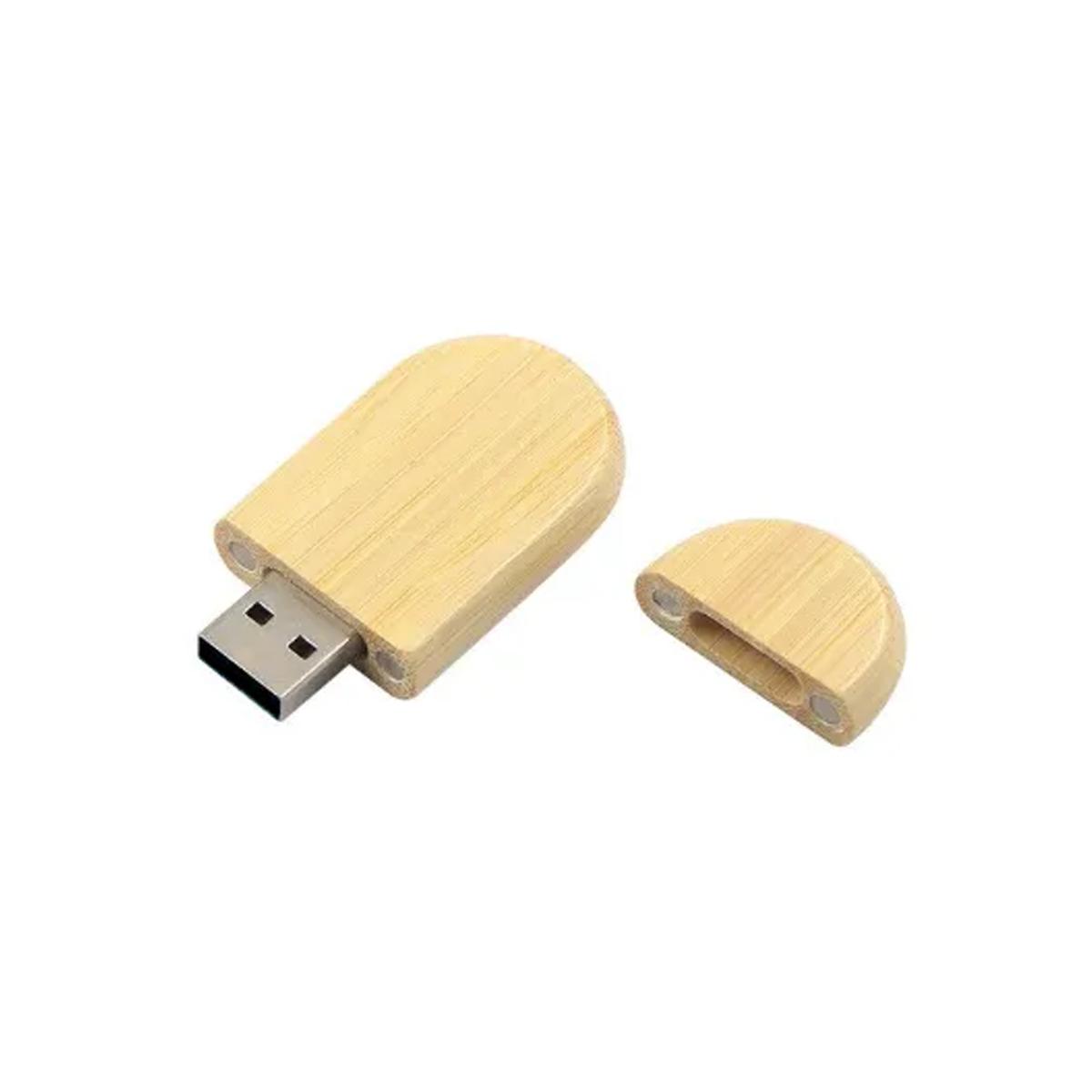Pendrive de madeira sustentável MM305 -  8 GB - Pronta Entrega