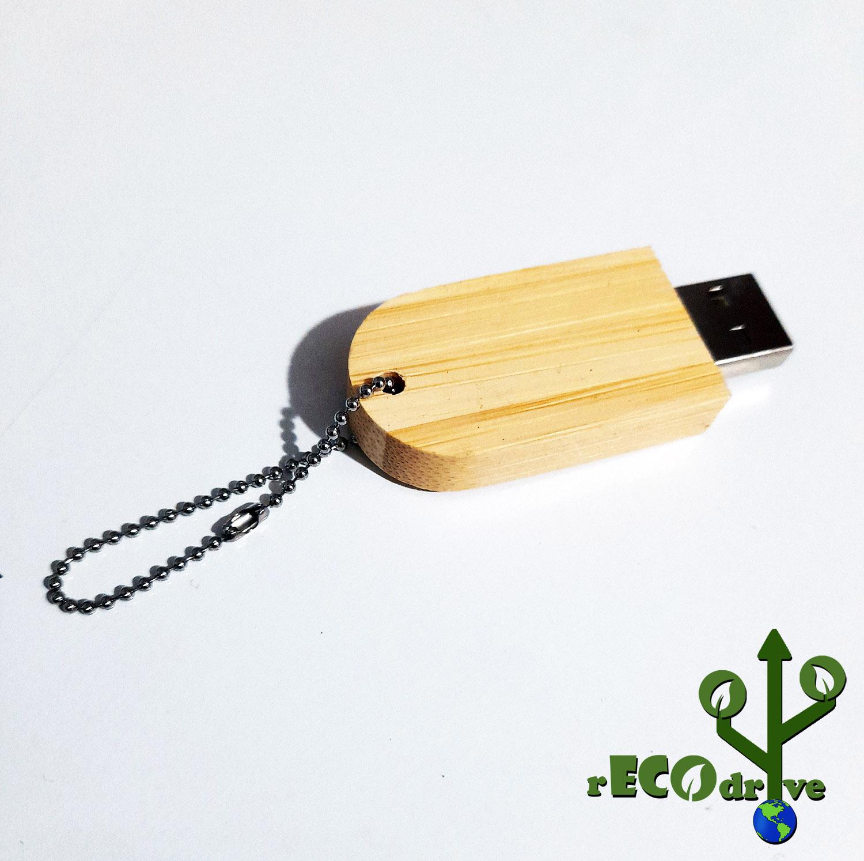 Pendrive Ecológico Madeira Fit ECO de 8 GB  - Linha rECOdrive