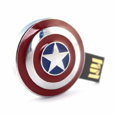 Pendrive escudo capitão America 8 GB - Original Infothink