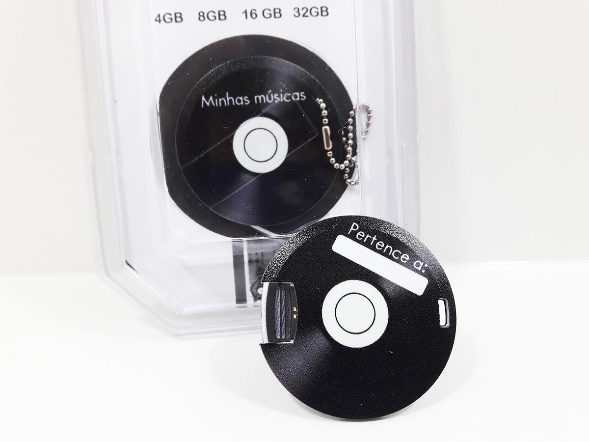 Pendrive formato Disco de Vinil de 16 GB