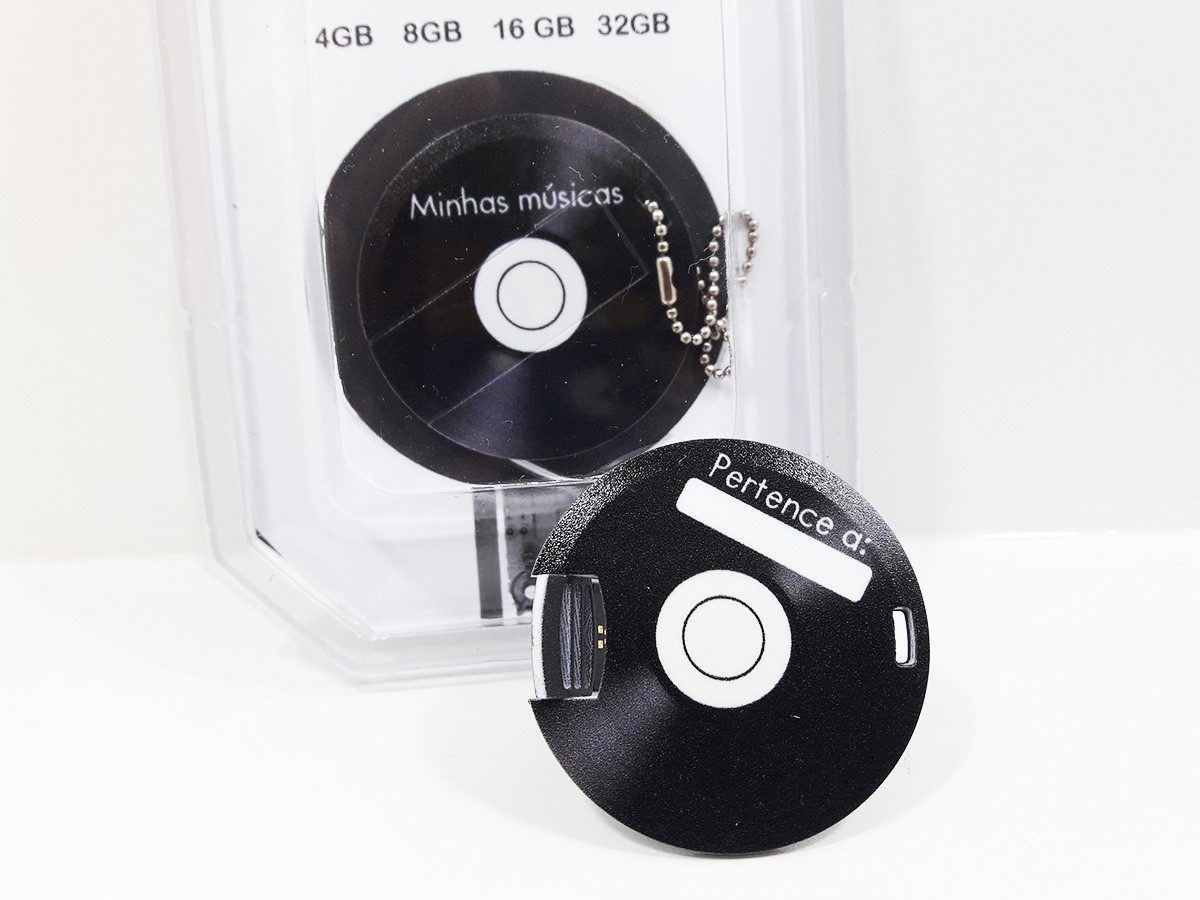 Pendrive formato Disco de Vinil de 8 GB