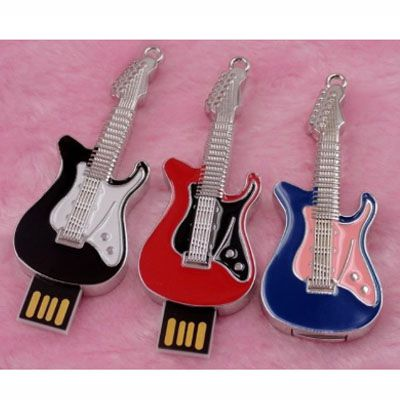 Pendrive Guitar red - MUS05 - Pendrive Personalizado - 8, 16, 32 GB