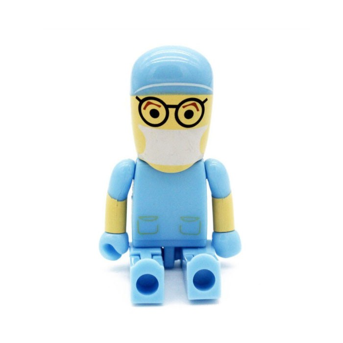 Pendrive Médico Cirurgião Azul  4, 8 , 16 e 32 GB - Importado