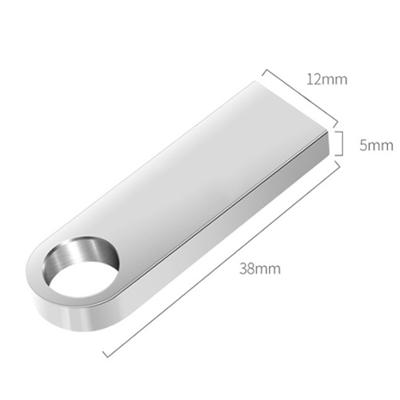 Pendrive metal P041 prata personalizado  - 4 GB, 8 GB e 16 GB