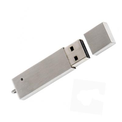 Pendrive Metal Prata F133 - Pendrive Personalizado - 4 GB, 8 GB e 16 GB