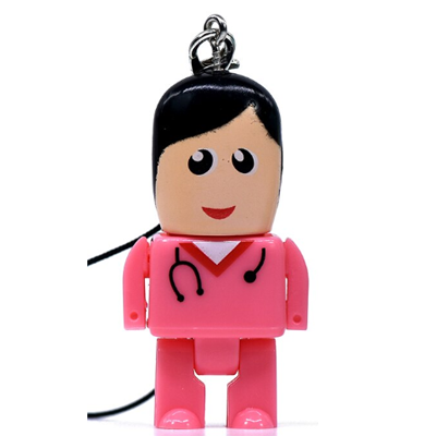Pendrive Mini médico Rosa 4GB, 8GB e 16 GB