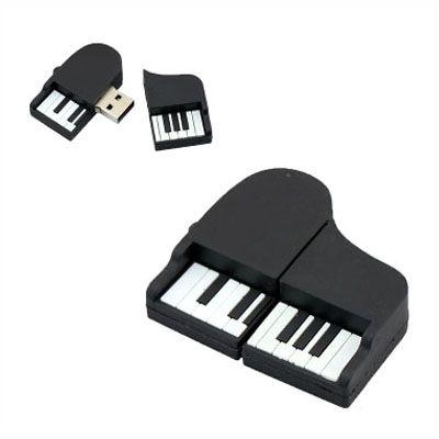 Pendrive Piano Preto - Pendrive Personalizado - 8, 16, 32 GB