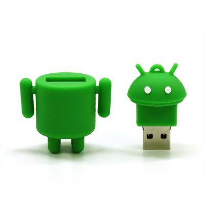 Pendrive Robo Android - Pendrive Personalizado - 8, 16 E 32 GB