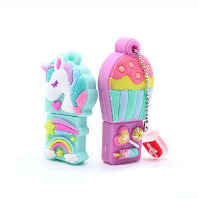 Pendrive unicornio cartoon - Pendrive Personalizado - 8, 16 E 32 GB