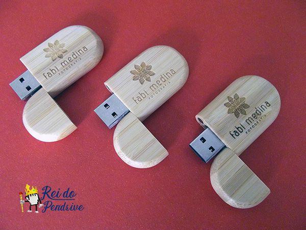 Pendrive Vintage Bambu - Pendrive para Fotógrafos - 4 GB , 8 GB e 16 GB