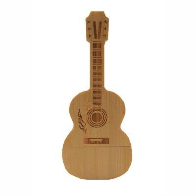 Pendrive violão de madeira - Pendrive Música - 8, 16, 32 GB