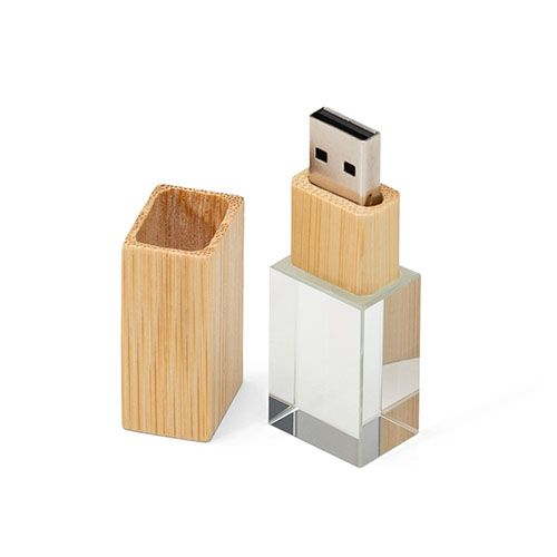 Pendrive Wood Glass  - Pendrives para fotógrafos - 4GB, 8GB e 16GB