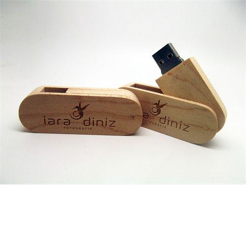 Pendrive Wood Style - Pendrive para Fotógrafos - 4 GB, 8 GB e 16 GB