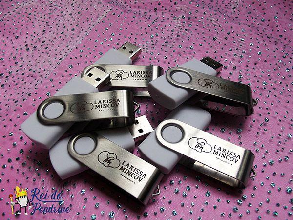 Pendrives Básicos - Modelo F126 - 4 GB, 8 GB e 16 GB  - 10 peças