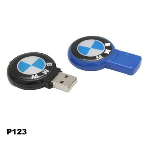 Pendrives Básicos - Modelo P123 redondo - 4 GB, 8 GB e 16 GB