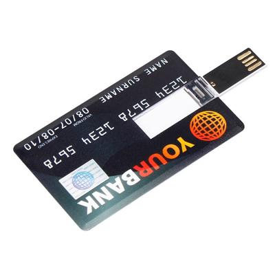 Pendrives Cartão personalizado  - Modelo P185 - 4 GB,  8 GB e 16 GB