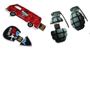 Pendrives em Acrílico 2D - Pen drive acrilico personalizado - 4GB, 8 GB e 16 GB