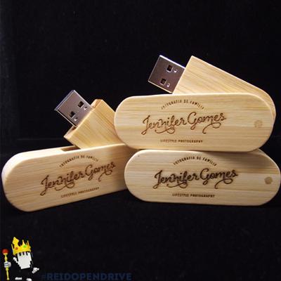 Pendrives madeira Giratório - MM246 - 4 GB, 8 GB e 16 GB