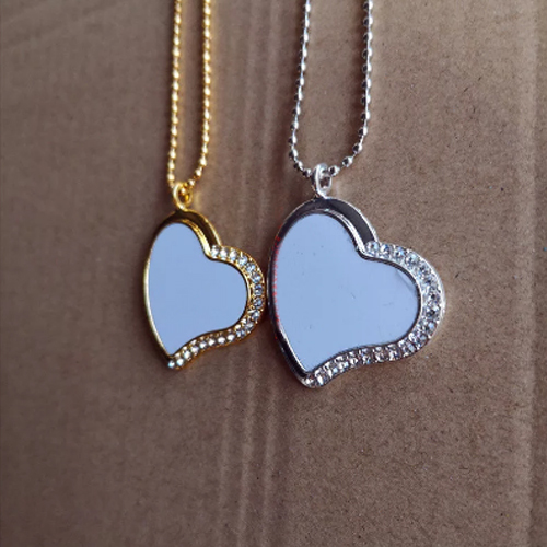 Pingente Coração para sublimação - 13 peças