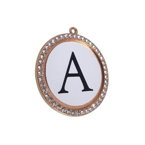 Pingente Dourado Personalizado com Inicial ou Nome