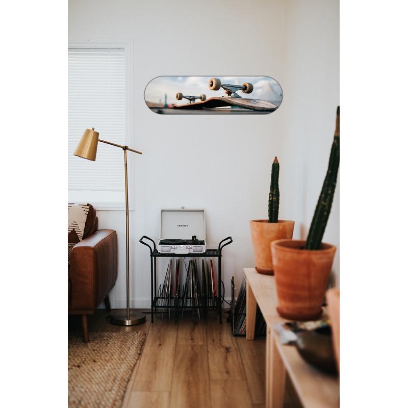 Placa Decorativa Shape Skate Manobra + chaveiro presente
