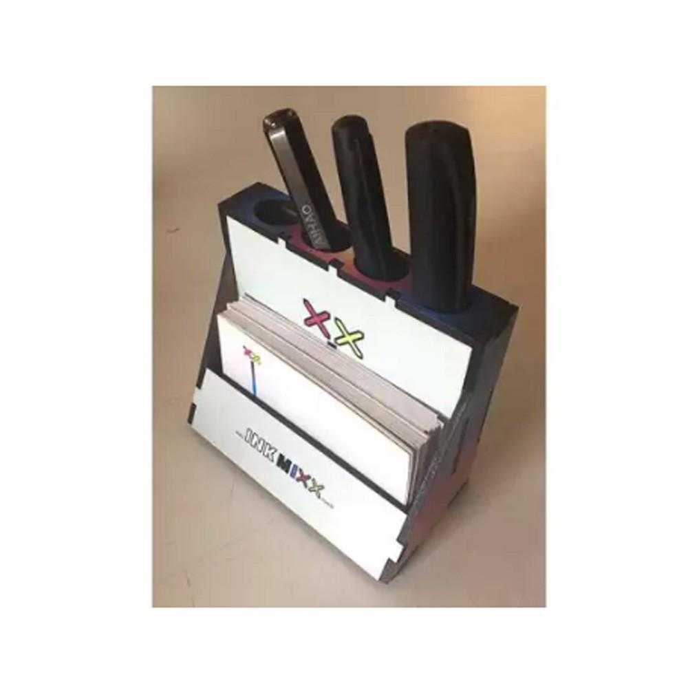 Porta Canetas e Cartões em MDF - PCCMDF-002