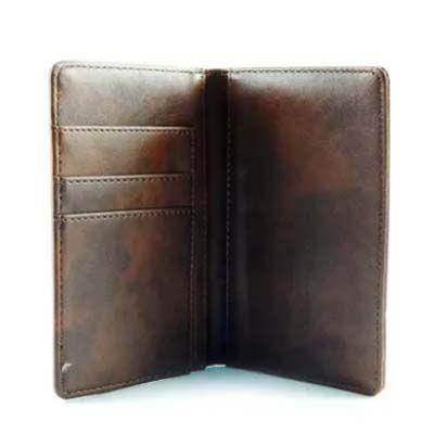 Porta Cartões de Courino Marrom  9,3x14,9cm