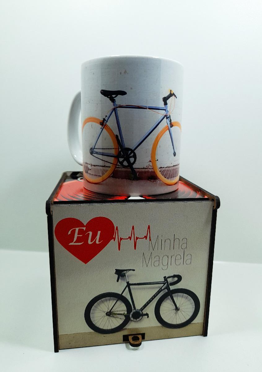 Presente Dia dos Pais - Pai Ciclista - Caixa e caneca Art Bike