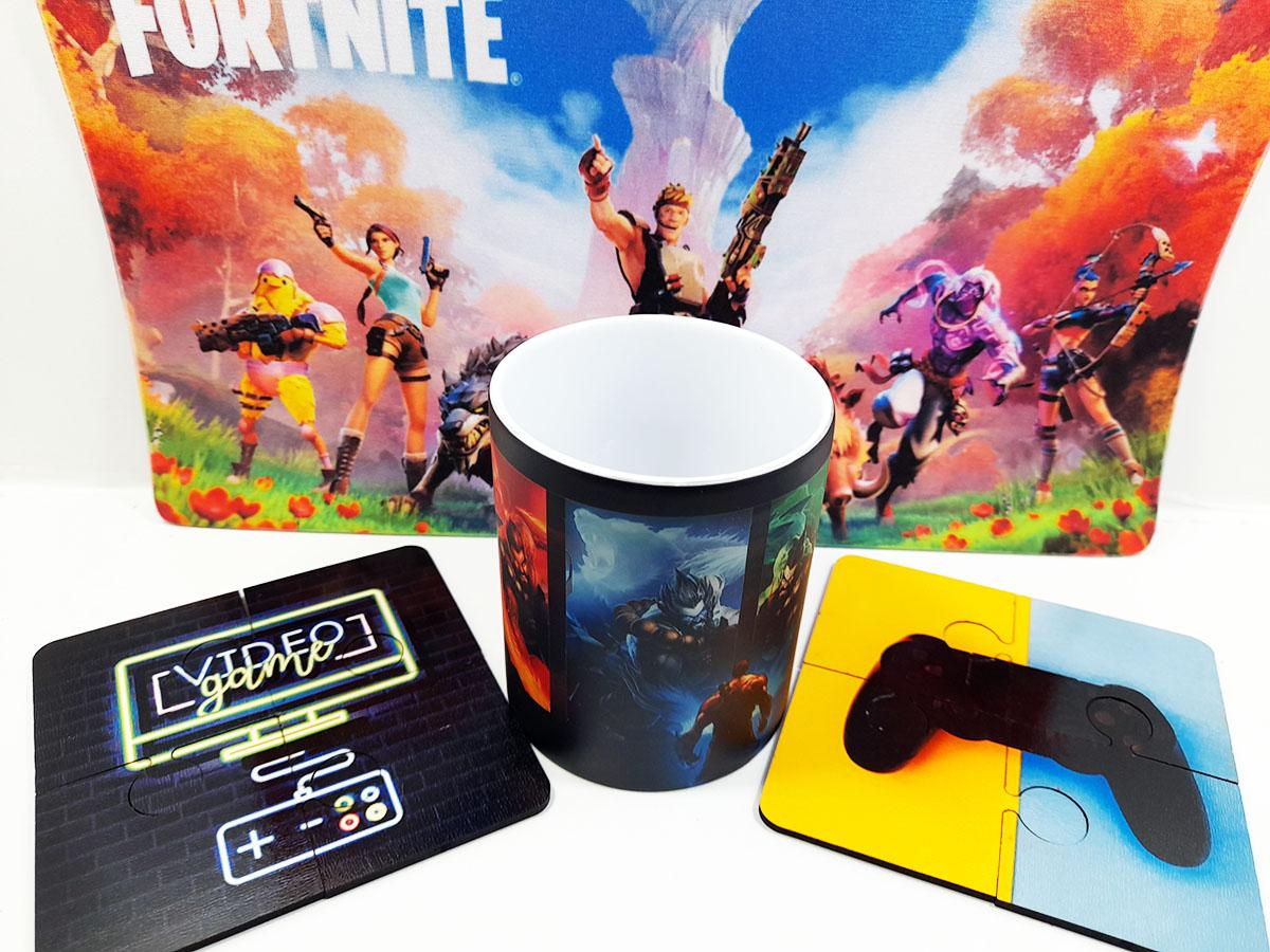 Presente para Pai Gamer Caneca mágica e Mouse pad Gamer 25 x 35 cm