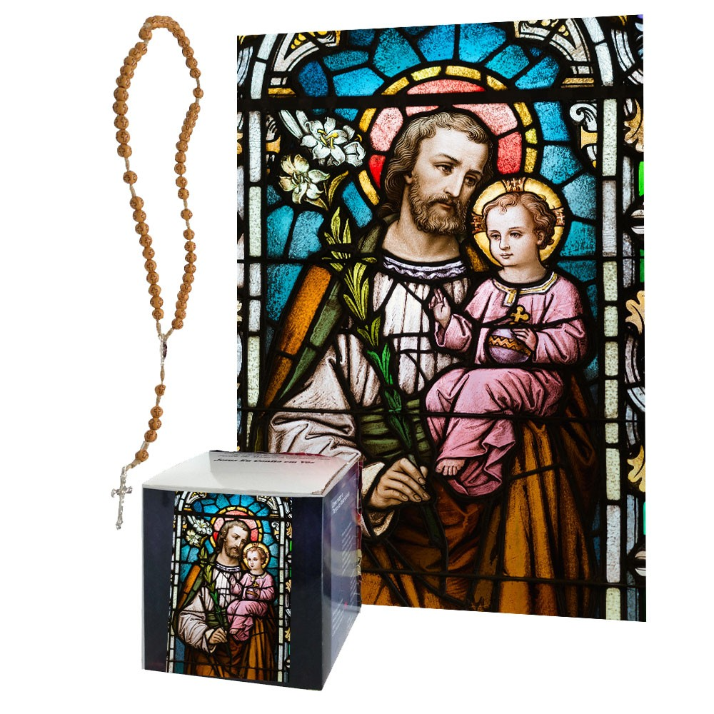 Quadro Decorativo Quebra-Cabeça São José de 165 peças + Terço Especial