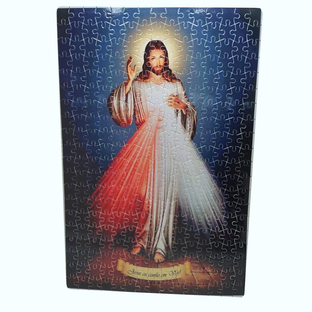 Quadro Jesus Misericordioso Rustico com moldura  + Terço Especial