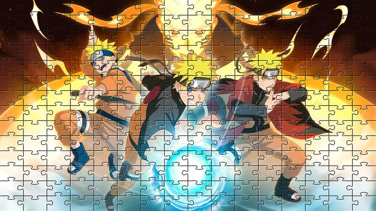 Quadro Para Decoração Naruto Quebra-cabeça 165 Peças