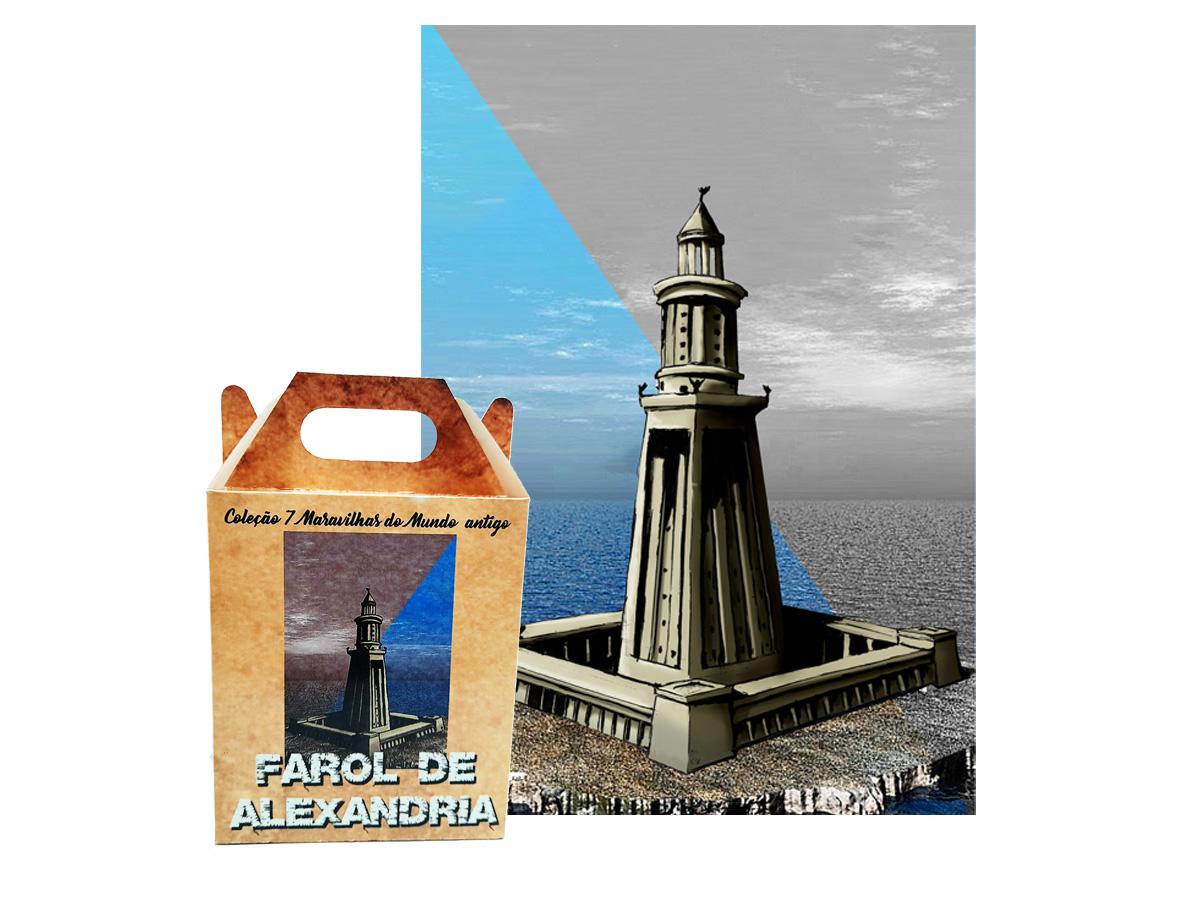 Quebra-cabeça 7 Maravilhas do Mundo - Farol de Alexandria - 300 peças