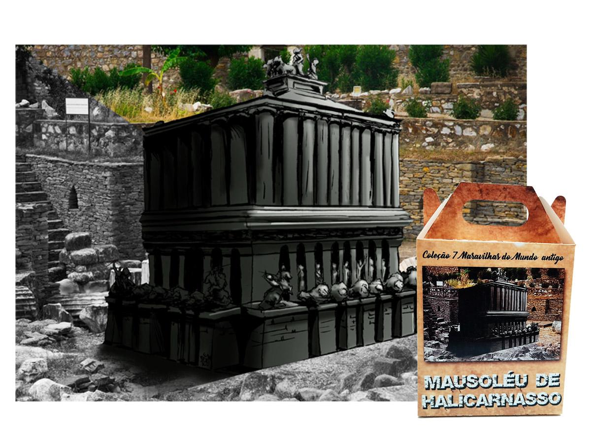 Quebra-cabeça 7 Maravilhas do Mundo - Mausoléu de Halicarnasso - 300 peças