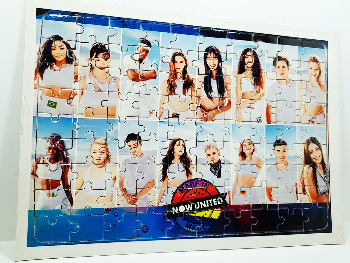 Quebra-cabeça 90 peças Now United + Caneca Color Now united + caixa Fã 2021
