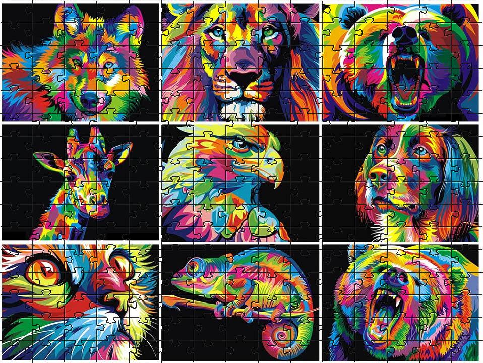 Quebra-cabeça Animals Colors de 252 peças