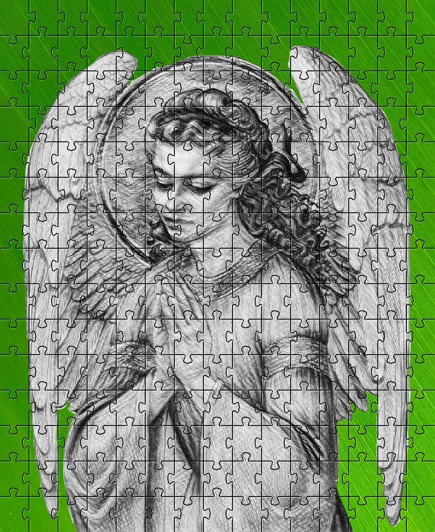 Quebra-cabeça Anjos Anjo da Guarda de 1000 peças
