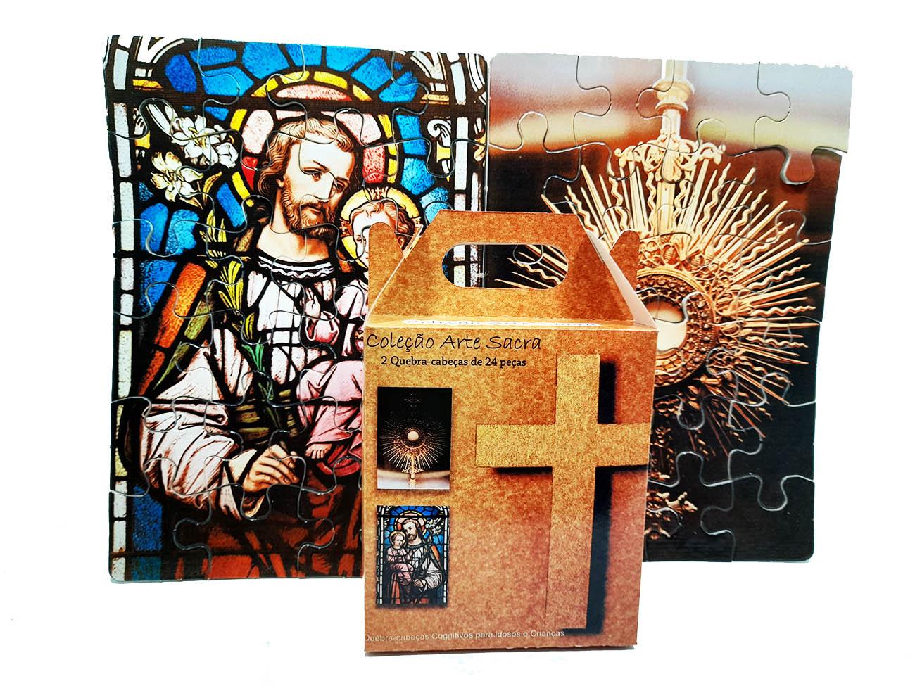 Quebra-Cabeça Arte Sacra Cognitivo Reabilitação para Idosos - Arte Sacra 48 peças