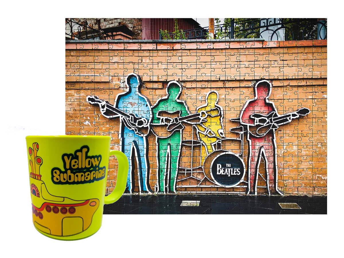 Quebra-Cabeça Beatles 165 peças + Caneca Yellow Submarine