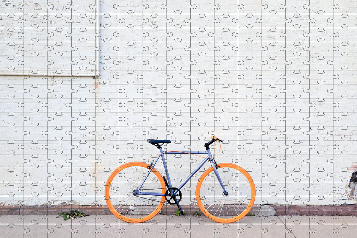 Quebra Cabeça Bicicleta 165 peças - Coleção Art Bike 2 + Toalha Presente