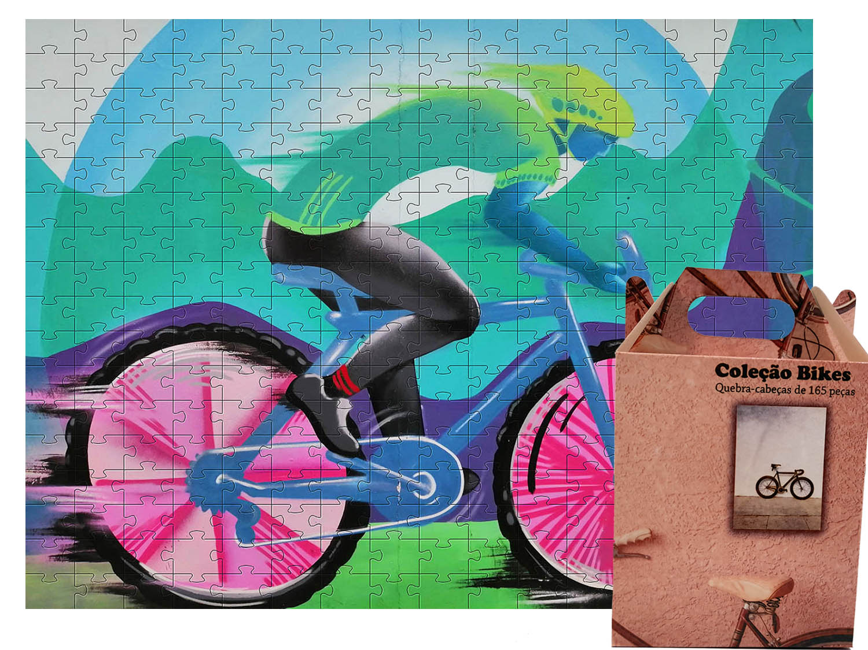 Quebra Cabeça Bicicleta 165 peças - Coleção Art Bike 3 + Toalha