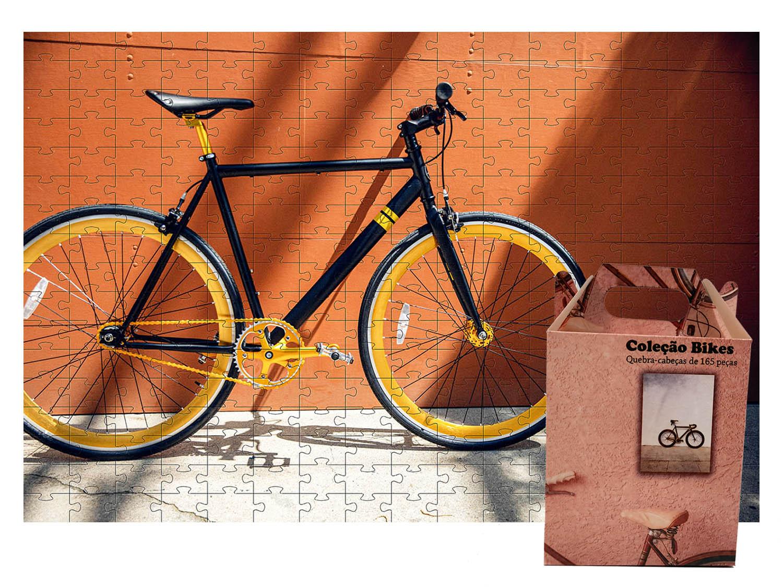 Quebra-Cabeça Bicicleta Estilo de vida 300 peças - Coleção Art Bike + Toalha