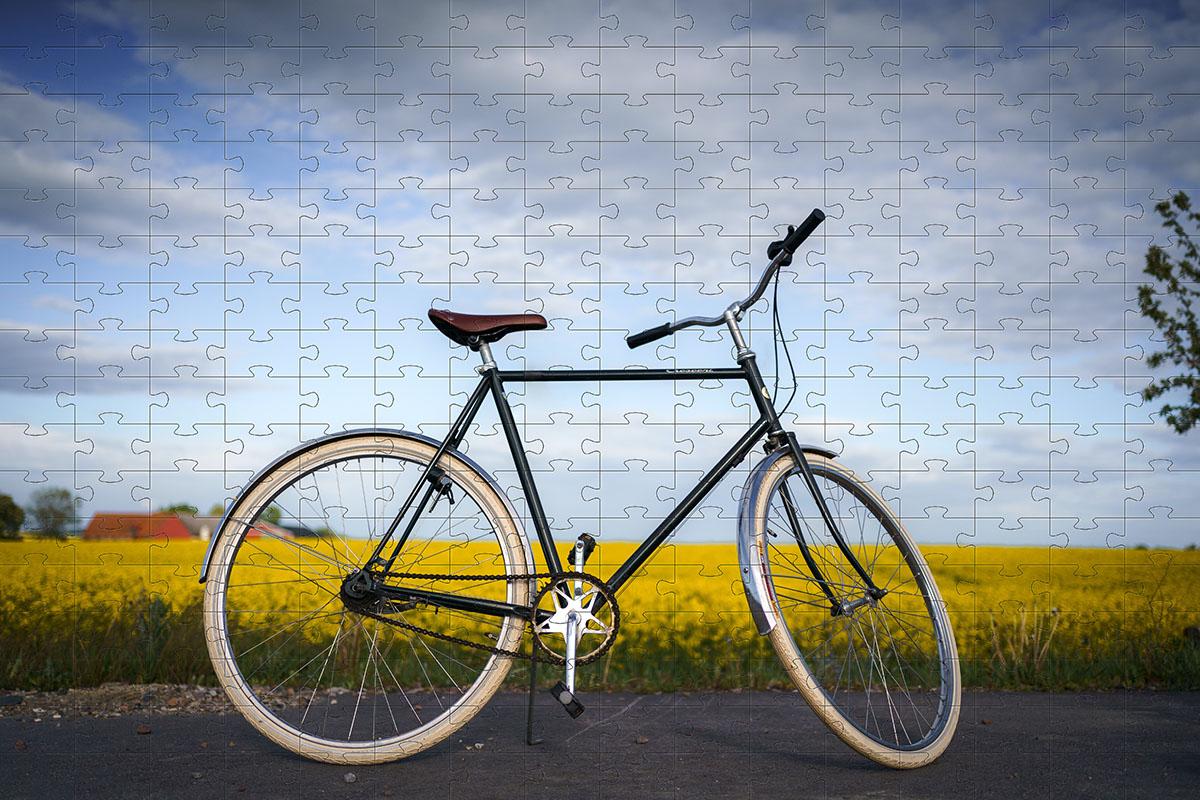 Quebra cabeça Bicicleta Minha vida de 165 peças - Coleção Art Bike + Toalha