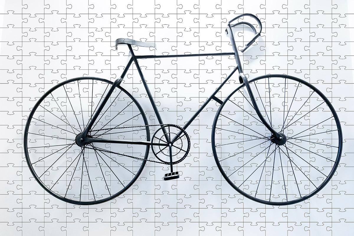 Quebra-Cabeça Bicicletas cognitivo para idosos 48 peças