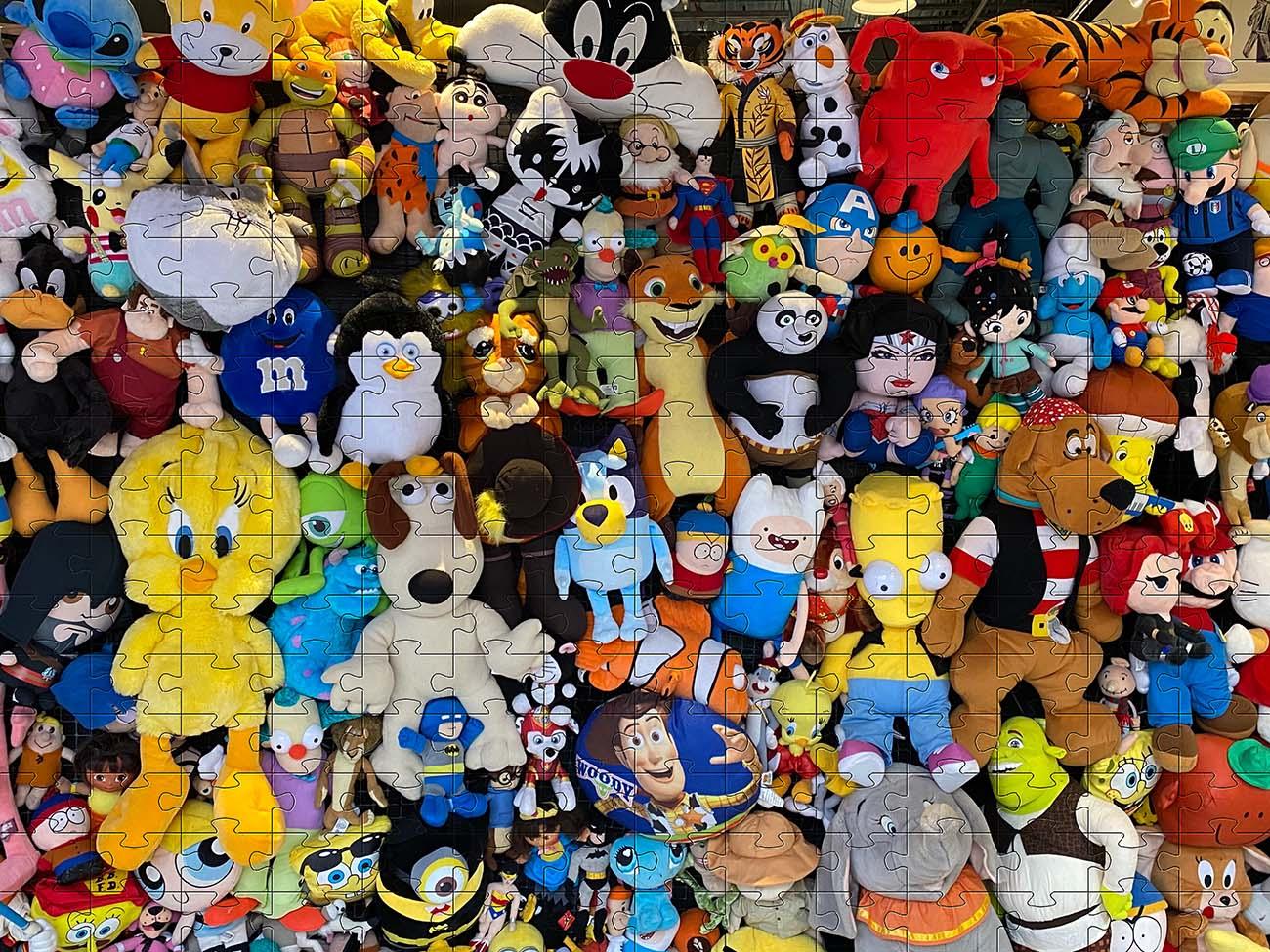 Quebra-cabeça Bonecos de Pelucia de 300 peças