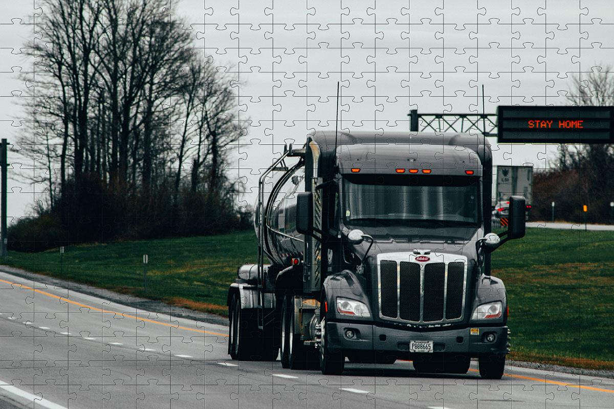 Quebra Cabeça Caminhão de 1000 peças + Chaveiro presente