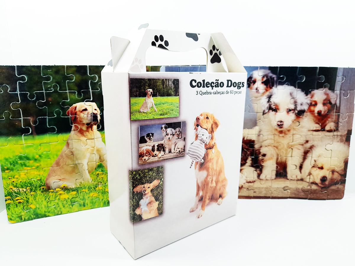 Quebra-Cabeça Cognitivo Reabilitação para Idosos - Cachorros 60 peças