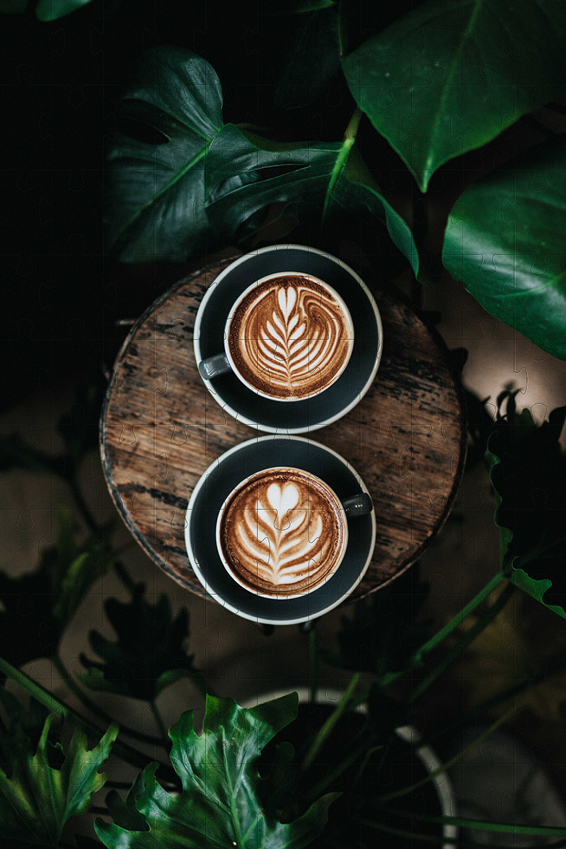 Quebra-Cabeça Cognitivo Reabilitação para Idosos - Café e bistrô