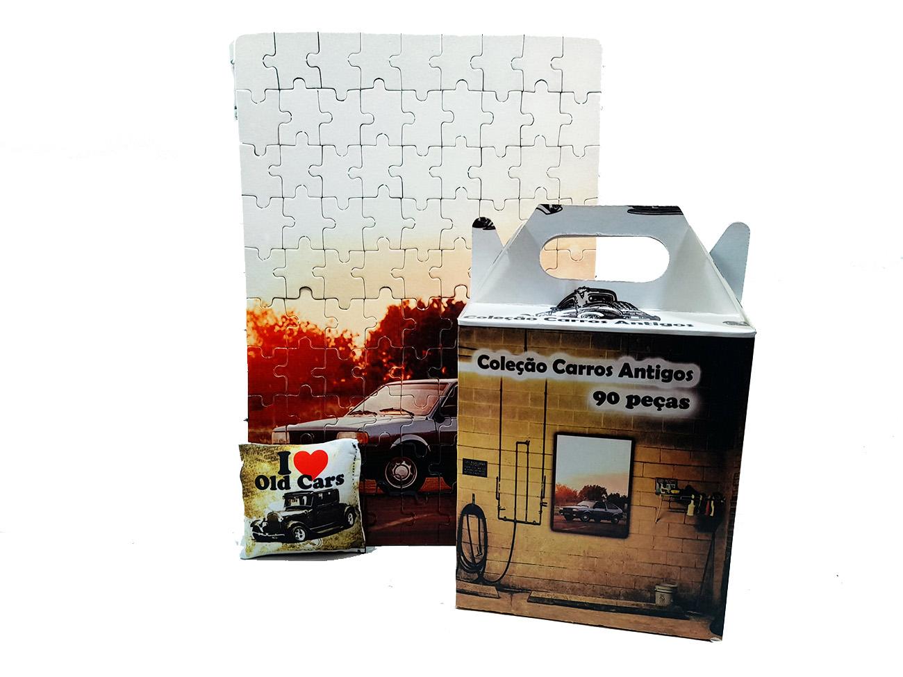 Quebra-Cabeça Cognitivo Reabilitação para Idosos - Carros antigos 48 peças